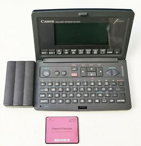 Vintage Canon Wordtank Md-8000 Multilingual Intelligent Dictionary 1990'S Japan