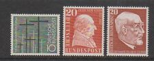 Germany (West) - 1956 War Grave, 1957 Stein & 1957 Beck stamps - MNH
