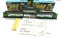 Lot of 3 Athearn HO Scale Burlington Northern F7A Super Powered & Dummy Loco's