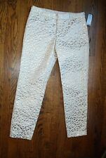 NWT New Hutch Leopard Animal Gold Textrured Brocade Cropped Ankle Pants Sz 0 XS