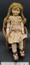 Porcelain Colette B52 Porcelain Doll with Hand-Made Wooden Chair