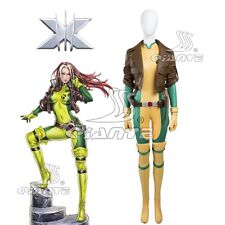 X-men Ms.Rogue Anna Marie Cosplay Costume Comic Con Jumpsuits Full Set