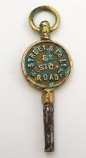 Antique Late 1800s Watch Key Street & Co 87 Westgate Road Newcastle  LAYBY AVAI