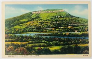 Vintage Chattanooga Tennessee TN Lookout Mountain Linen Postcard 1937