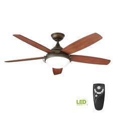 Home Decorators Gramercy 52 in. Led Indoor Espresso Bronze Ceiling Fan