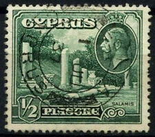 Cyprus 1934 SG#134, 1/2pi Green KGV Used #D51662