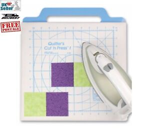 June Tailor 'Cut'n Press I'. 2 sided quilting board. Rotary cut on one side,