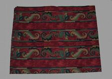 "Sheridan PAISLEY Scroll Stripes Double Rod Valance 88"" x 18"" NWOT 2 Avail"