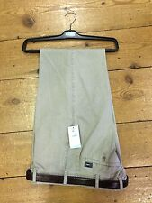 Bruhl Cotton MONTANA Regular Fit Self Stripe Trousers/Stone - 56/32