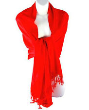 BRAND NEW LUXURIOUS RED PASHMINA SHAWL WRAP SCARVES  STOLE