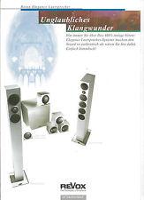 Studer ReVox Prospekt Katalog Elegance Lautsprecher Prestige Column Shelf Center