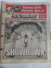 SUBWAY SERIES SPECIAL YANKEES vs METS PREVIEW NEW YORK POST NEWSPAPER 10/21 2000