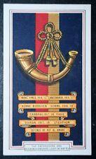 Oxfordshire & Buckinghamshire Light Infantry   World War 1  Battle Honours Card
