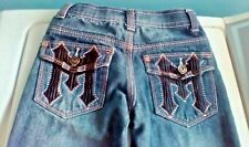 Boys Size 5 Makaveli Faded Styled Blue Jeans