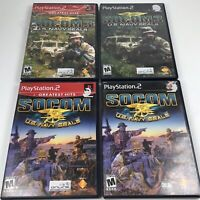 PS2 Playstation Socom Lot Of 4 Shooter Games (SEE Pictures). BC1