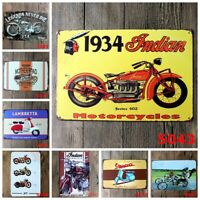 Vintage Motorcycle Metal Iron Painting Tin Sign Plaque Pub Cafe Retro Bar Decor