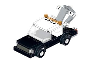 Lego MOC Wheel Lift Tow Truck - Model PDF Instructions Manual
