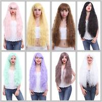 Woman Fashion Rhapsody Curly Fluffy Multi Colors Cosplay Wig Lolita Party Wigs