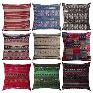 Indian Handmade Ethnic Hand Woven Floor Pillow Bohemian Cushion Cover 40cmx40cm