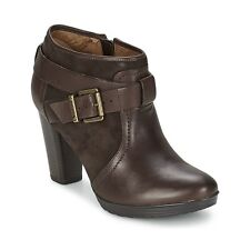 NEW CLARKS MALPAS DALLAS BROWN LEATHER ANKLE BOOTS - UK size 6.5D