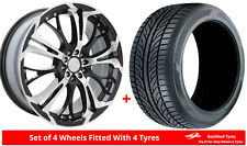 "Alloy Wheels & Tyres 18"" Dare Ghost For Honda Accord Five Stud [Mk7] 98-07"