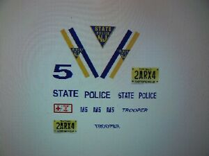 New Jersey State Police Motorcycle Decals 1:18