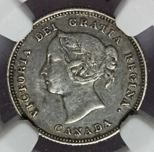 1885 Canada 5 Five Cents Small 5 Silver Coin - NGC VF 30 - KM# 2