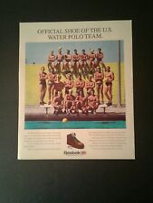 1988 U.S Water Polo Team Reebok Rugged Walkers Shoes Vintage Sports 10 x 12 Ad