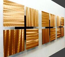Modern Metal Wall Art Golden Copper Accent Sculptures Decor Original Jon Allen