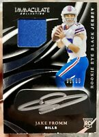 2020 IMMACULATE JAKE FROMM ROOKIE PATCH AUTO JERSEY EYE BLACK /99 BILLS RPA
