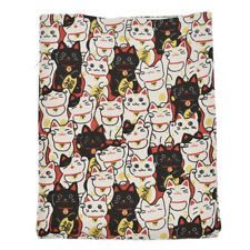 Cute Japanese Lucky Cat Printed Fabric DIY Bag Wallet Sewing Craft 145x45cm Xmas