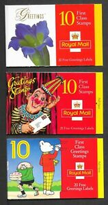 THREE BAR CODE BOOKLETS LESS FACE VALUE COMPLETE UM AS ISSUED POST FREE 4