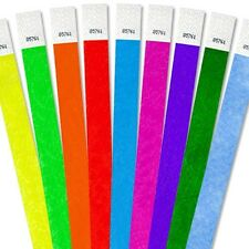 """50,000 3/4""""Tyvek Wristbands-Choose Your Color-Wholesale,Events,Clubs,Security"""