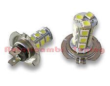 KIT 2 X LAMPADE LAMPADINE H7 FENDINEBBIA 18 LED 5050 SMD LUCE BIANCA 6000K