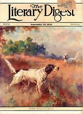 Vintage Literary Digest Magazine September 10, 1932 Setters Cover