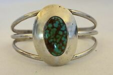 CARLOS DIAZ Bracelet BISBEE TURQUOISE Sterling Silver, worked w/Frank Patania