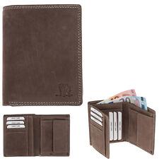 Geldbörse Herren Leder Hunter Lederbörse Wallet purse Elephant 253 hoch Braun