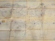 Old Map Beirut Liban 1967 Original Vintage