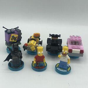 LEGO dimensions - Simpsons And Batman Mixed Lot - 7 Pieces