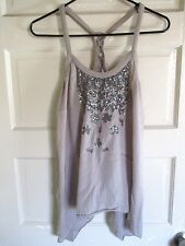 """Women's """"willow & clay"""" Cami Top Shirt ,Gray with Pattern ,slightly used"""