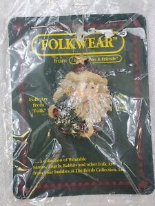 1995 Folkwear- NICHOLAS WITH TREE- SANTA- Boyd's Bears Pin Brooch #2649