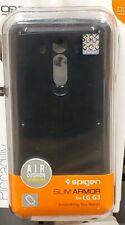 New Spigen Slim Armor (Metal Slate) Case For LG G3 - Air Cushion Technology #7H
