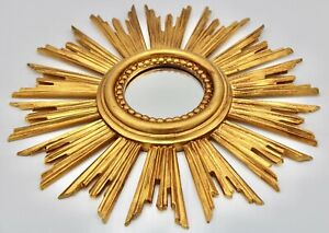 Vintage Italian Gold Gilded Sunburst Mirror