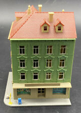 Pola N Scale 4 Story Apartment Corner Building W/ Store Assembled Vintage RARE