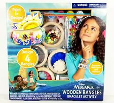 Disney's Moana Wooden Bangles Bracelet Activity Set Brand New Free Shipping