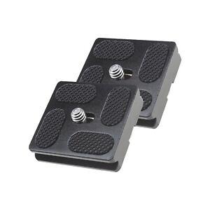 2 Stk 40mm-Schnellwechselplatte mit 1/4 Zoll-Gewinde für Kamerastativ-Kugelkopf
