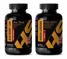 Antioxidant herbs - ACAI BERRY – HOODIA GORDONII COMBO - acai softgels