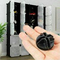 10pcs Plastic CONNECTOR Interlocking Cube Storage Wardrobe Organizer Unit Closet