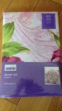 Élégant & Beautiful Lucille Lilas & Rose Floral Réversible Simple Ensemble De Couette