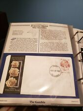 Princess Diana First Day Cover Stamps (10) & Royal Down & White Chiffon stamps